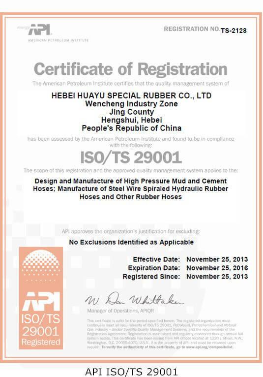API ISO/TS 29001